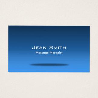 Bleu élégant de chiroprakteur de thérapie de cartes de visite