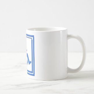 Bleu élégant handicapé de symbole mug