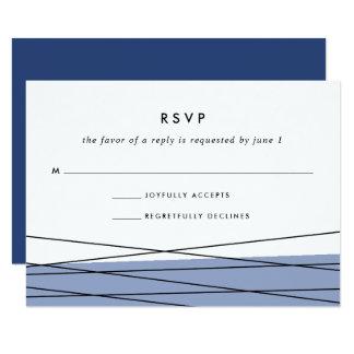 Bleu en acier de la carte | de la linéation RSVP Carton D'invitation 8,89 Cm X 12,70 Cm