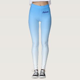 Bleu en pastel de lumière de ciel de gradient leggings