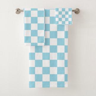 Bleu en pastel et blanc Checkered