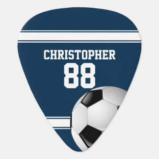 Bleu et blanc barre le ballon de football du onglet de guitare