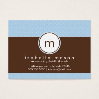 Bleu et carte de maman de Brown Polkadot