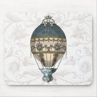 Bleu et crème baroques de ballon tapis de souris