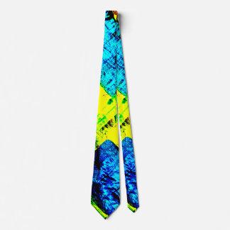 Bleu et jaune abstraits cravates