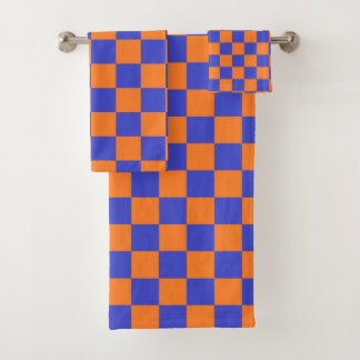 Bleu et orange Checkered