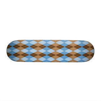 Bleu et plaid de Jacquard de Brown Planches À Roulettes Customisées