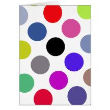Bleu et points colorés de Brown Cartes