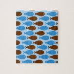 Bleu et poissons de Brown Puzzles