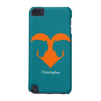 Bleu et poney personnalisé par orange coque iPod touch 5G