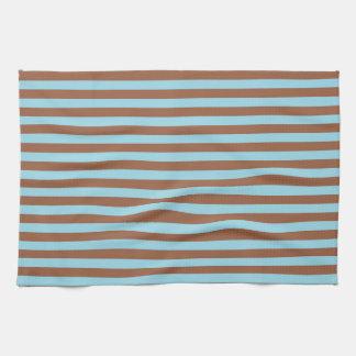 Bleu et rayures en pastel de Brown Serviette Pour Les Mains