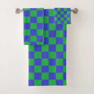 Bleu et vert Checkered