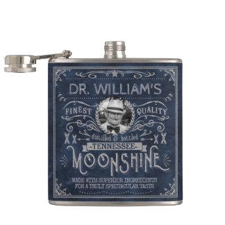 Bleu fait sur commande de médecine vintage de flasques