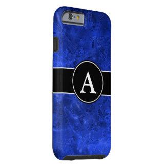Bleu fondu avec l'initiale coque tough iPhone 6