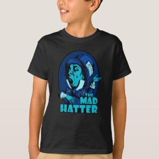 Bleu fou de logo de chapelier t-shirt