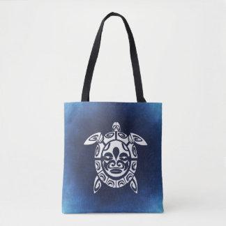 Bleu Fourre-tout de tortue de mer Sac