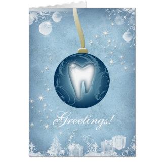 Bleu glacier dentaire de carte de Noël