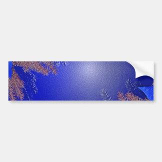 Bleu I de poinsettia de Noël Autocollant Pour Voiture