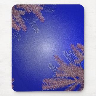 Bleu I de poinsettia de Noël Tapis De Souris