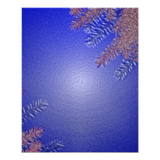 Bleu II de poinsettia de Noël Prospectus Avec Motif