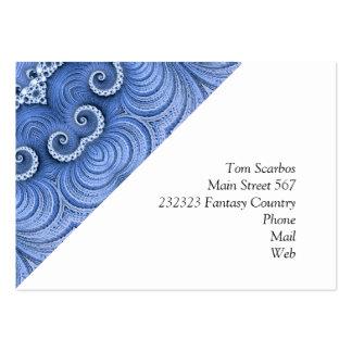 Bleu impressionnant de Kaleido 07 Carte De Visite Grand Format