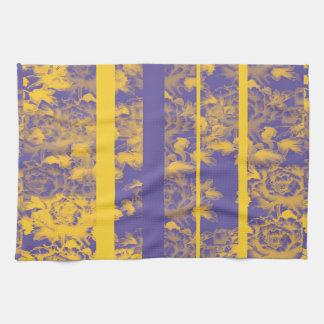 bleu jaune serviettes éponge