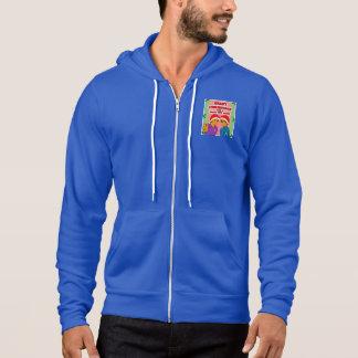 Bleu jeune de sweat - shirt à capuche de Noël des