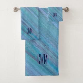 Bleu Laidback   d'Aqua de turquoise de monogramme
