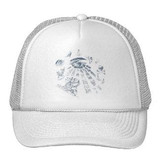 Bleu maçonnique d'imaginaire de casquette