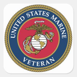 Bleu marin de vétéran des USA Sticker Carré