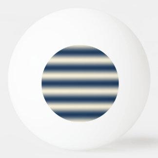 Bleu marine au gradient jaune arénacé balle de ping pong