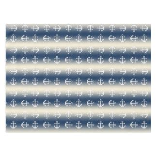 Bleu marine au gradient jaune arénacé nappe