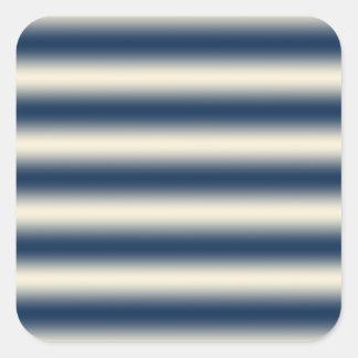Bleu marine au gradient jaune arénacé sticker carré