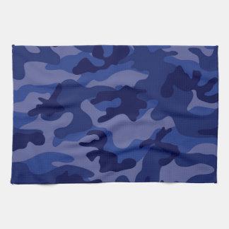 Bleu marine Camo, camouflage Serviettes Pour Les Mains
