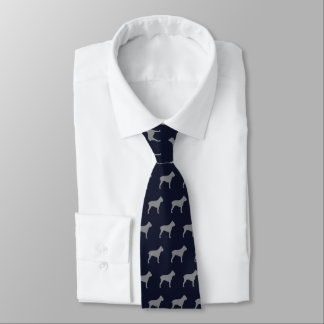 Bleu marine de motif de silhouettes de Corso de Cravates