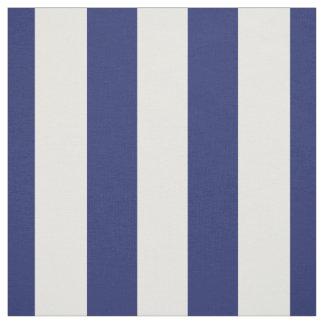 "Bleu marine et blanc 1,5"" motif de rayures tissu"