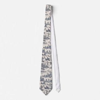 Bleu marine et cravate en ivoire de Toile de Franç
