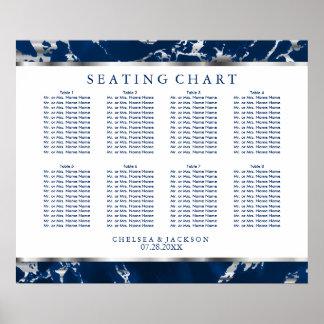 Bleu marine et marbre d'argent - diagramme posters