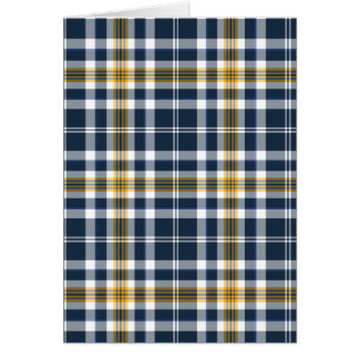 Bleu marine et plaid sportif d'or jaune cartes