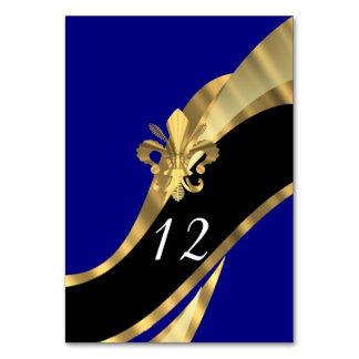 Bleu marine, noir et gold fleur de lys