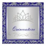 Bleu marine royal de diadème de diamant faire-parts