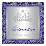 Bleu marine royal de diadème de diamant Quinceaner Faire-parts