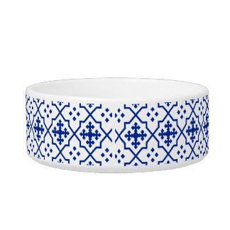 Bleu marocain écuelles pour chat