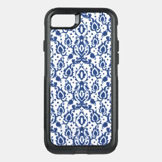 Bleu marocain et blanc de damassé de Casbah Coque OtterBox Commuter iPhone 8/7