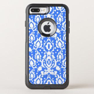 Bleu marocain et blanc de damassé de Casbah Coque OtterBox Commuter iPhone 8 Plus/7 Plus
