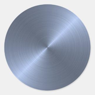 Bleu métallique adhésif rond