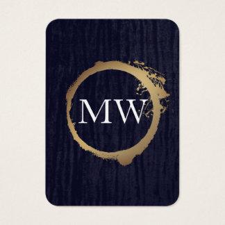 Bleu métallique de velours d'or de Faux avec le Cartes De Visite