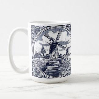 Bleu néerlandais chic mignon vintage de Delft de Mug