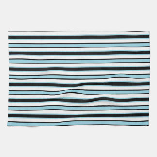 Bleu noir et en pastel de va-et-vient serviette pour les mains