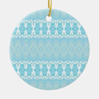 bleu ornement rond en céramique